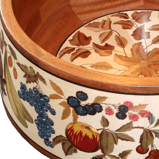 bowl with marquetry decoration